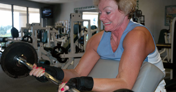 Old broads: the golden years of pumping iron