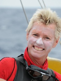 56-year old woman swims Atlantic