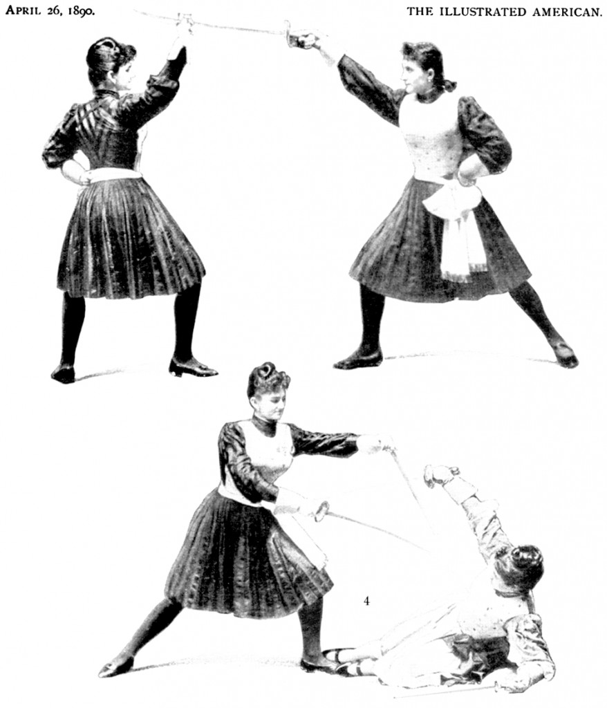 Instruction for women fencers, 1890