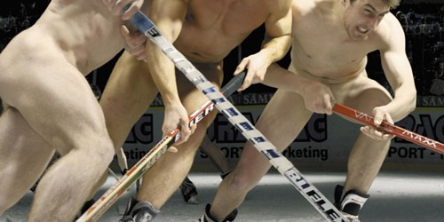 "I couldn't find any non-porny shots of ""female hockey player ass"", so enjoy some puzzlingly nude men instead."